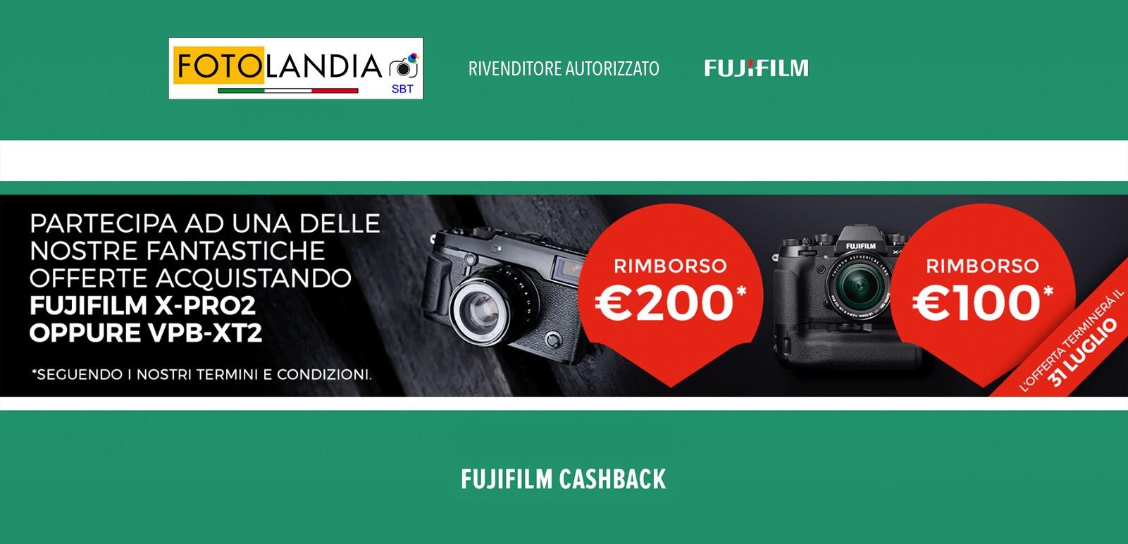 Cashback Fujifilm 24/05/2017 - 31/07/2017